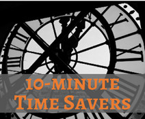 10 Minute Time Savers Clock