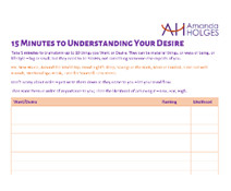 15 Minutes to Understanding Your Desire