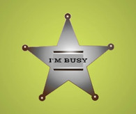 sheriff badge - I am busy